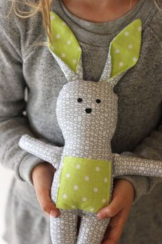 Are you looking to make something special for your little one's Easter basket?Make this sweet and hip stuffed bunny!