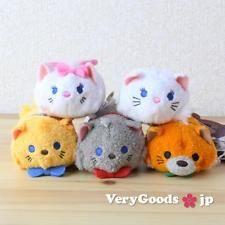 TSUM TSUM Mini S The Aristocats Set 5 Cat Plush Doll ❤ Disney Store Japan 2016