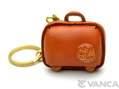Suitcase Leather Keychain(L) 【Made in Japan】【Unique ...