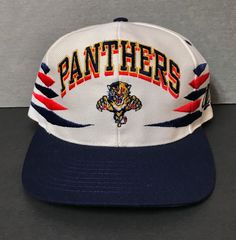 buy online ff660 45ebb NHL Hats · RARE Vtg FLORIDA PANTHERS SNAPBACK HAT off-white BIG LOGO 90s  diamond men women
