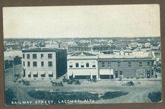 908 LACOMBE, ALBERTA - RAILWAY STREET; Warwick Bros #5305 for Jino Scales
