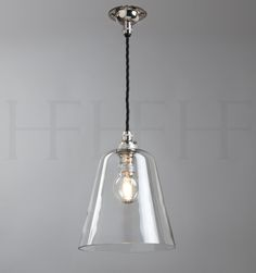 Glass bell shade, small