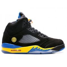 Air Jordan 5 Black Laney ( Black / Yellow / Royal )