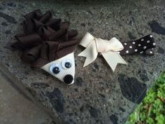 Over the Hedge Hedgehog Ribbon Sculpture Set by patyg13 on Etsy, $4.50
