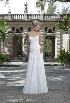 Biele svadobné šaty Svadobný salón valery, korzetové svadobné šaty, padavé svadobné šaty, jednoduché svadobné šaty