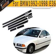 58.00$  Buy here - http://aliela.worldwells.pw/go.php?t=1358037868 - E36 PP Auto Car Door Edge Guards Molding Trim Protection Strip Protector For BMW 1992-1998 E36 4D Sedan 58.00$