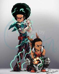 Hero Academia + Boondocks - #academia #Boondocks #Hero Dope Cartoon Art, Dope Cartoons, Cartoon Kunst, Black Love Art, Black Girl Art, Boondocks Drawings, Dope Kunst, Black Cartoon Characters, Character Art