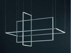 LED direct-indirect light aluminium pendant lamp AREA - Sforzin Illuminazione