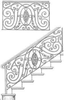 Stair Railing Designs ISR049A