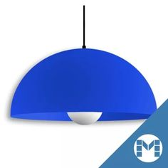 lampara colgante campana de pvc p/bajo cons o led colores vs