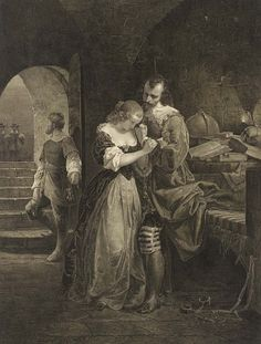 Sir Walter Raleigh Parting with His Wife by Charles Burt / American Art
