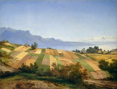 Alexandre Calame (1810-1864), Swiss Landscape, c. 1830. Oil on paper mounted on canvas