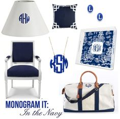 for some unknown reason, gotta monogram everything