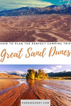 This Great Sand Dunes camping guide will cover everything you need to know about camping in Great Sand Dunes as well as camping near Great Sand Dunes. | Great Sand Dunes Camping | Camping in Great Sand Dunes National Park and Preserve | Great Sand Dunes National Park camping | Campgrounds in Great Sand Dunes National Park Camping, National Parks, Usa Travel, Travel Tips, Camping Guide, Picnic Area, The Dunes, Outdoor Woman, Preserve