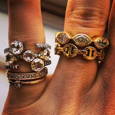 .@Meaghan McKeon | My pinky stack is murdering it today.