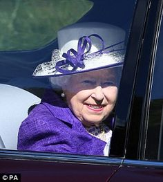 Her Majesty arriving at Crathie Kirk in Scotland