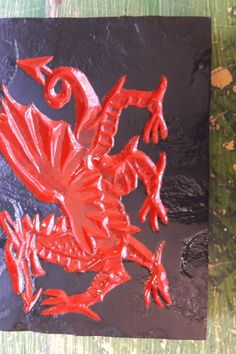 Gower Stone Art make beautiful hand carved bespoke House names and numbers in Welsh Slate Welsh Dragon, Stone Art, Beautiful Hands, Slate, Hand Carved, Rooster, Carving, Dragons, Animals