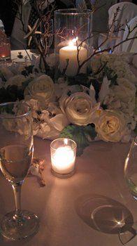 Wedding, Reception, Centerpiece, White, Green, Ceremony, Yellow, Gold