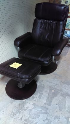 $200 Swivel Leather chair and ottoman @ Brass Bear 2652 Valleydale Rd. 35244 -- 205-566-0601 Open 10AM to 6PM Mon-Sat and Sunday 1-5pm