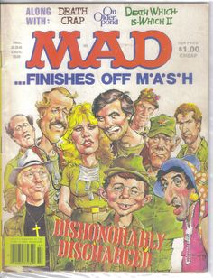 Mad world: See vintage MAD magazine covers, and find out the magazine's history - Click Americana Caricatures, Cover Pages, Cover Art, Comic Book Covers, Comic Books, Alfred E Neuman, Mad Magazine, Magazine Covers, American Humor