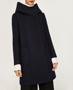 ZARA - WOMAN - COAT WITH WRAP COLLAR
