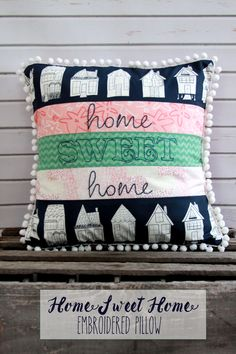 Home Sweet Home Pillow -Flamingo Toes