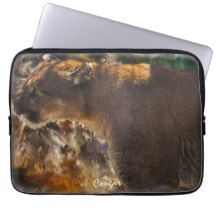 Cougar Mountain Lion Big Cat Art Design 4 Laptop Sleeves