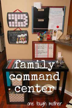 DIY Family Command Center - Loads of DIY inspiration to inspire you to create a space to organize your family life.