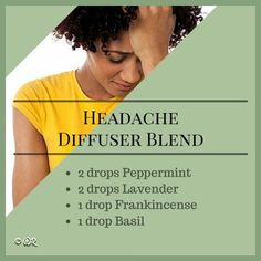 headache diffuser blend - Google Search