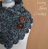 Elegant crochet cowl pattern from Living Skies Crochet on Ravelry