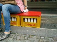 Coca-cola box seat