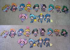 All Sailor Scouts Perler Bead Sprites SuperS Puzzle Game And Sailor Stars Puzzle Game For SNES by HollyGreenGames, via Flickr