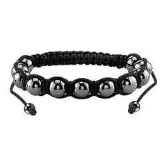 Men's Hematite Bead Bracelet