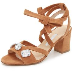 Bionda Castana Ruby City Sandals (6.380 NOK) ❤ liked on Polyvore featuring shoes, sandals, sand, low heel ankle strap sandals, ankle wrap shoes, small heel shoes, leather sole shoes and ankle tie sandals
