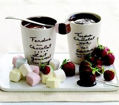 chocolat foundue......