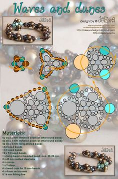 Interesting bracelet schema - Many, many nice pieces on this site.  Most with schemas, a few with tutes. #seed #bead #tutorial