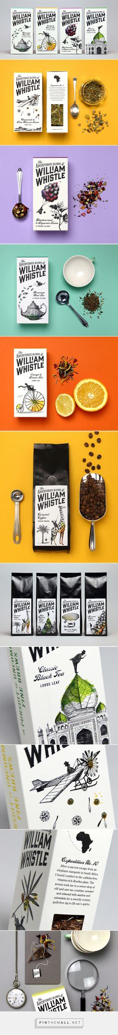 The Adventurous Blends of William Whistle — The Dieline - Branding & Packaging Design. - a grouped images picture Beverage Packaging, Coffee Packaging, Brand Packaging, Tea Design, Tea Box, Brand Design, Package Design, Chocolate Recipes, Beverages