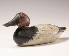 Hand Carved and Painted Duck Decoy  Mason Detroit grade canvasback