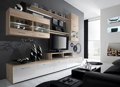 Living Room Designs Ideas With Paris Contemporary Design Wall Unit Modern Entertainment Center Unique Modern Design with LED Lights High Storage Capacity Living Room Furniture Tv Stand (Oak Sonoma) – Comfortable Modern Wall Unit – contemporary entertainment sets. Living room... #contemporarylivingroomsets