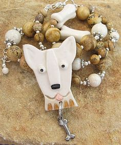 Talking Dogs at For Love of a Dog: Bull Terrier Dog Jewelry Gifts
