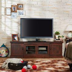 Furniture Of America Walder Vintage Walnut 68 Inch TV Stand Brown