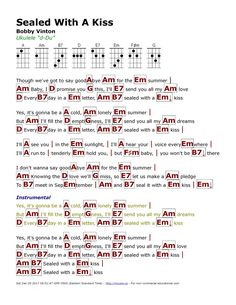 Ukulele Songs Popular, Easy Ukulele Songs, Ukulele Chords, Guitar Songs, Just Lyrics, Lyrics And Chords, Fleetwood Mac Music, Kiss Music, Bobby Vinton
