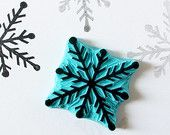 Snowflake stamp hand carved rubber stamp by CassaStamps on Etsy Stamp Printing, Printing On Fabric, Christmas Snowflakes, Christmas Decor, Eraser Stamp, Stamp Carving, Snowflake Decorations, Custom Rubber Stamps, Handmade Stamps