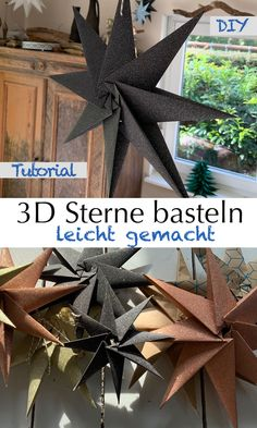 Christmas Time, Xmas, Paper Christmas Decorations, Diy And Crafts, Paper Crafts, Christmas Origami, 3d Origami, Paper Stars, Origami Tutorial
