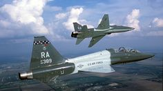 Northrop T-38 Talon duo in action