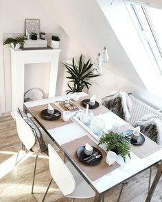 Einfach Perfekt! // Esszimmer Weiss Beige White Interior Esszimmertisch Deko  Dekorieren Tisch ...