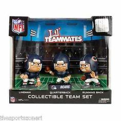 Chicago Bears Lil Teammates Quaterback, Running Back, Lineman Team Set Visit our ebay Store  www.thesportszonetoo.com