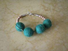 Items similar to FINAL SALE 7 USD - Handmade felt bracelet with wooden beads on Etsy Felt Bracelet, Beaded Bracelets, Handmade Felt, Wooden Beads, Turquoise Bracelet, Jewelry Making, Jewels, Trending Outfits, Unique Jewelry