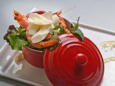 Gamberi al vapore con scaglie di Pecorino, videoricetta Brunelli #ricette #video #food