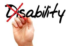 37422910 - turning the word disability into ability, business concept